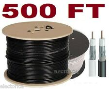 500 FT RG-6 SATELLITE COAX CABLE RG6 COAXIAL ANTENNA  HD SATELLITE TV WIRE OTA