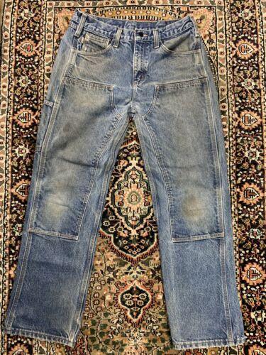 Vtg Carhartt Double Knee Work Pants Size 32x32 Wor