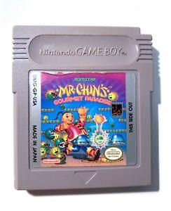 RARE! Mr. Chin's Gourmet Paradise Nintendo Original Gameboy Game TESTED WORKING