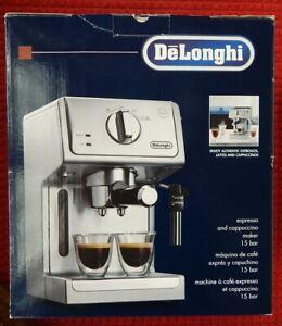 DeLonghi-15-Bar-Pump-Espresso-Cappuccino-Machine-Stainless-Steel-Excellent