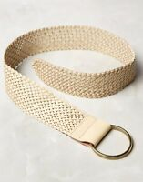 Anthropologie Woven Leather Corset Belt In Neutral