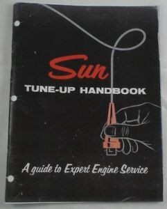 details about sun scope tune-up tester handbook a guide to expert engine  service manual book