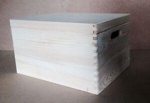 * Bois De Pin De Stockage Crate & Couvercle 40x30x23cm Dd170 Mémoire Mariage Boîte D'archivage (a)-afficher Le Titre D'origine SuppléMent éNergie Vitale Et Nourrir Yin