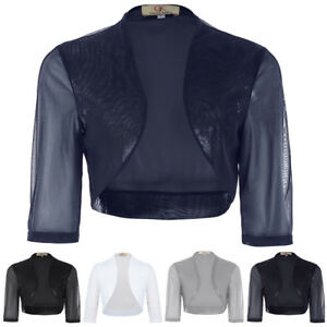 Sexy-Women-Chiffon-Bolero-Shrug-Jacket-Cropped-Top-Cardigan-Half-Sleeve-Fashion