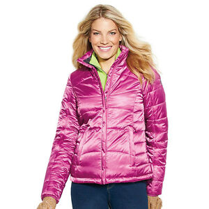 Zeroxposur Warm Athletic Womens Puffer Jacket Coat Pink