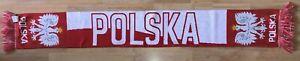 POLSKA-POLAND-schal-scarf-sciarpa-bufanda-echarpe-sjaal-Fussball-legia-wisla-lech
