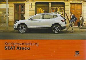 SEAT-ATECA-Betriebsanleitung-2019-Bedienungsanleitung-Handbuch-Bordbuch-BA
