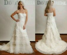NWT Oleg Cassini CWG352 Ivory Champagne Wedding Dress 18W
