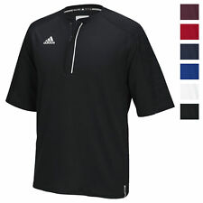 adidas Men's CLIMALITE Modern Varsity Short Sleeve 1/4 Zip Athletic Loose Fit