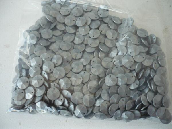 100 Gramm Pailetten Aus Kunststoff, Silberfarben,11 Mm Durchmesser, 4mm Stark