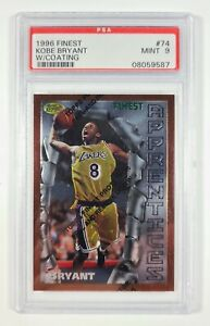 1996 Finest W/ Coating #74 Kobe Bryant Rookie Card RC Graded PSA MINT 9 Lakers