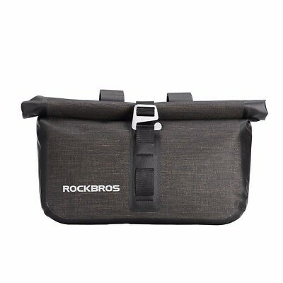 RockBros Bicycle Handlebar Bag Waterproof Cylinder Cycling Bag Black Gold BG