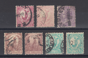 New-South-Wales-SG-344-345-346a-347-349-349a-349b-used-1905-10-issues