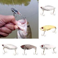5pcs Metal Fishing Lures Bass CrankBait Spoon Crank Bait Tackle 3 Colors