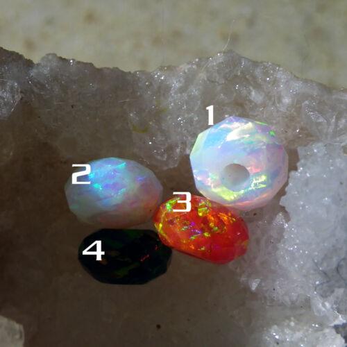 colores Top Opal rondell perla div sintético aprox facetado 7x4mm
