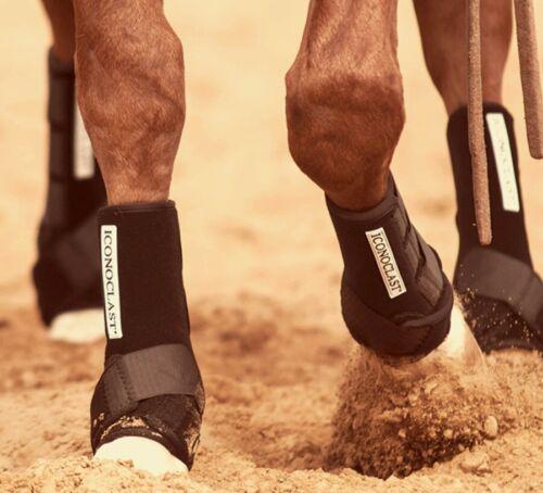 Iconoclast horse tack sport boots *black* medium*  FRONT