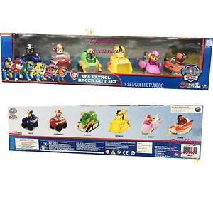 NEW Nickelodeon Paw Patrol Sea Patrol Racer Gift Set 6 Toy Dogs Cars ... 6fa39c23fc4c