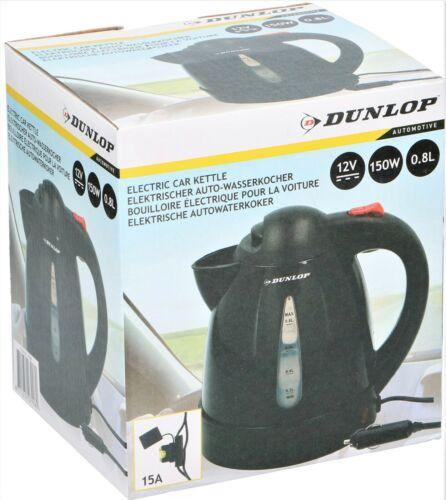 Dunlop Wasserkocher 0,8 L Auto Kocher PKW 150W Überhitzungsschutz 12V Teekocher