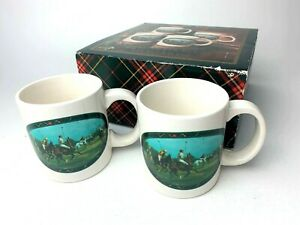 2-Vintage-Ralph-Lauren-1978-Polo-Horse-Ponies-Mugs-Vintage-Coffee-Cups-in-Box