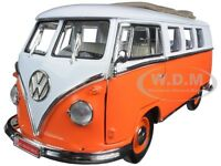1962 Volkswagen Microbus Orange 1:18 W/retractable Roof By Road Signature 92327