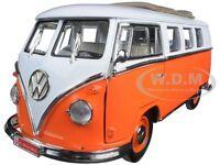 1962 Volkswagen Microbus Orange 1:18 W/retractable Roof By Road Signature 92327