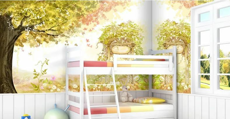 3D Watercolor tree 201 WallPaper Murals Wall Print Decal Wall Deco AJ WALLPAPER
