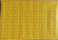 Monopoly Money, 3 Original Uncut Sheets, $5, $10, $500, Parker Brothers