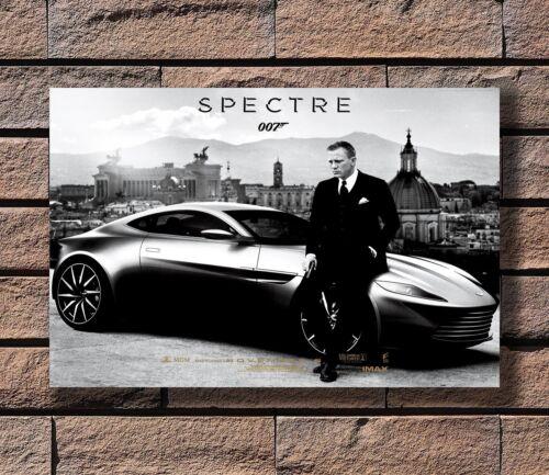 Spectre 007 Spy Shooting Movie Poster Fabric 20x30 24x36 E-361 James Bond 24