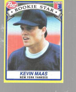 1991-Post-Cereal-Kevin-Maas-30-Of-30-Yankees-Rookie-Stars-Series-Baseball-Card