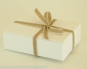 Details About Small Gift Box Soap Carton White Boxes Jewellery Gifts Self Assembly Boxes