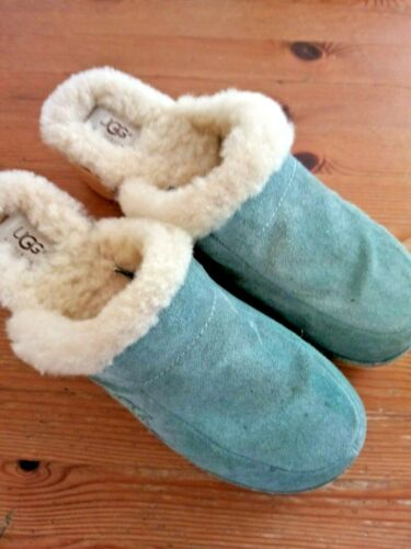 Suede UGG Women's Shoes Mules Clogs Blue Size 10