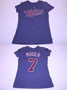 013ecf1550a Women's Minnesota Twins Joe Mauer M Jersey T-Shirt Tee Majestic ...