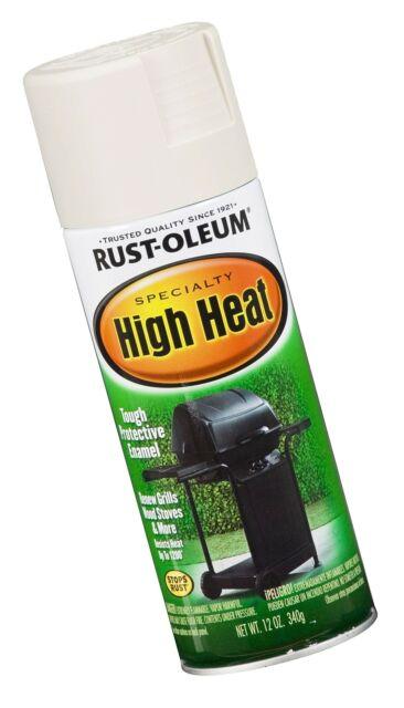 Rust Oleum 7751830 High Heat Enamel Spray 12 Oz White 1 Pack