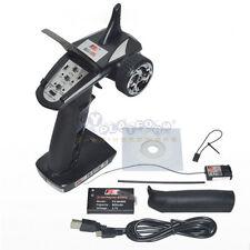 Flysky FS-GT2B 2.4G 3CH Transmitter W/ Battery GR3E Receiver Radio System For RC