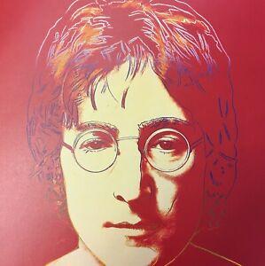 WARHOL ANDY John Lennon LITHO Print Ed Ltd Hand number Modern Fine Art Repro