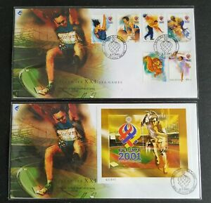 2001-Malaysia-Sports-XXI-SEA-Games-5v-Mascot-amp-MS-on-2-FDC-mild-toned-lot-E