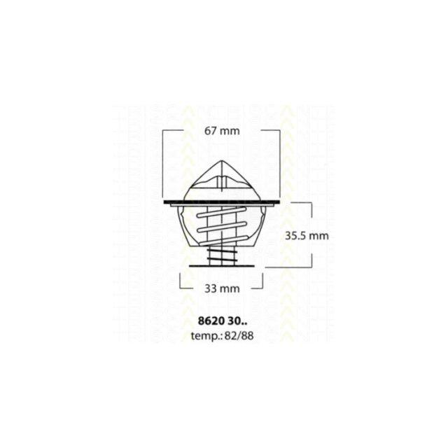 Thermostat BMW 2000-3.2 2500-3.3 5 6 7