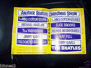 THE BEATLES  ANOTHER BEATLES CHRISTMAS SHOW 196465 CONCERT SOUVENIR PROGRAMME - <span itemprop=availableAtOrFrom>Midlothian, United Kingdom</span> - If not delighted with any of my Beatles items please firstly notify me on receipt.If you have a VALID reason for not being satisfied I have listed the item you have as I described it o - Midlothian, United Kingdom