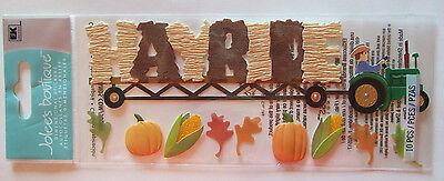 HAYRIDE Jolee's Boutique Dimensional Stickers Autumn Halloween pumpkin patch hay