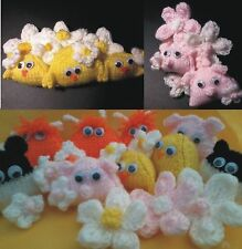 pram charm / nursery, animals, chick, sheep, pig, cow, flowers EASY KNIT PATTERN