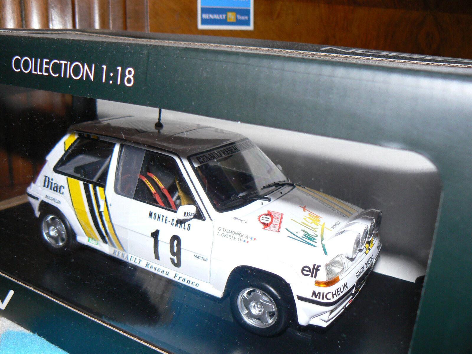 Renault 5 gt turbo super 5 rallye monte carlo nuit  A. oreille 1 18 1 18 norev