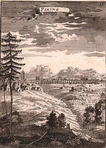 Vue-View-XVIIe-Pekin-Bejing-Chine-China-1683
