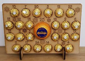Calendario Avvento Ferrero.Dettagli Su Calendario Avvento In Legno Regalo Di Natale Si Adatta 24 Ferrero Rocher Chocolate Orange Mostra Il Titolo Originale