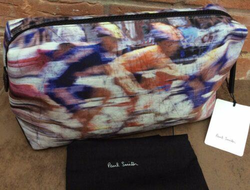 PAUL SMITH BLURRED CYCLISTS WASHBAG COMPLETE WITH DRAWSTRING STORAGE BAG BNWT