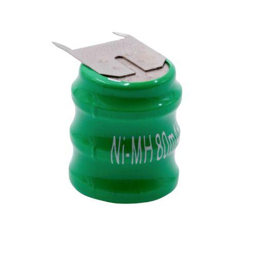 3 Zellen Knopfzellen Akku Typ V80H mit 3 Pins NI-MH 3.6V 80mAh