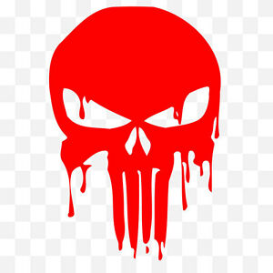 Grunge Punisher Blood Logo Car Laptop Vinyl Graphic Decal ...