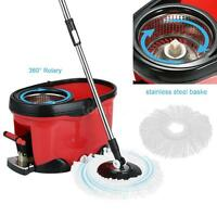 Easy Mop 360° Rotating Spin Magic Mop And Bucket Set Foot Pedal Rotating X0l0
