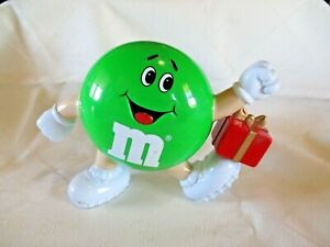 M-amp-M-039-s-Green-Dispenser-With-Present-Hasbro-Collectable