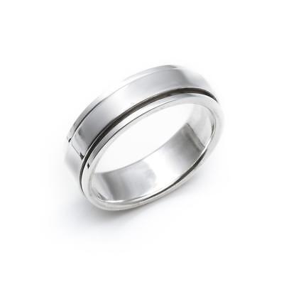 Silverly Womens Mens .925 Sterling Silver Open Greek Keys 7 mm Ring