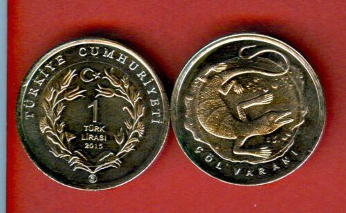 varan Metallic UNC dragon TURKEY 1 Lira issue 2015 Bi